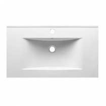 Plan vasque 81x46cm céramique Blanc - O\'DESIGN Réf. VAS800W