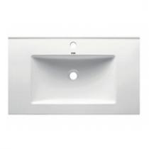 Plan vasque 81x46cm céramique Blanc - OZE Réf. VAS800CER