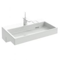 Plan-vasque Terrace L 80 Percé 1 trou avec bandeau LED Blanc - JACOB DELAFON Réf. EXD9112-00
