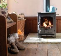 Poêle à bois / charbon Country 4 4.8kW avec grille fonte et tiroir cendrier - CHARNWOOD Réf. 009/CO4MFR