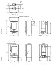 Poêle à bois C-Eight 8kW - CHARNWOOD Réf. 009/CEIGHT