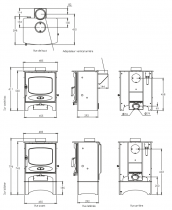 Poêle à bois C-Five 5kW - CHARNWOOD Réf. 009/CFIVE