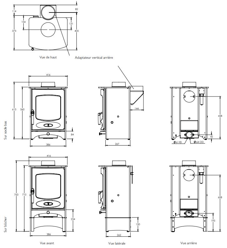 Poêle à bois C-Four 4.9kW - CHARNWOOD Réf. 009/CFOUR