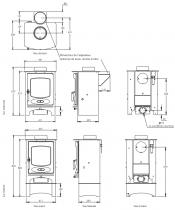 Poêle à bois C-Six 5.9kW - CHARNWOOD Réf. 009/CSIX