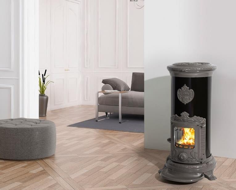 po le bois petit godin 310105 7 kw peint anthracite ou. Black Bedroom Furniture Sets. Home Design Ideas