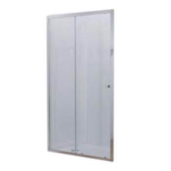 Porte coulissante Serenity 100cm vitrage Transparent profilé Chrome ...