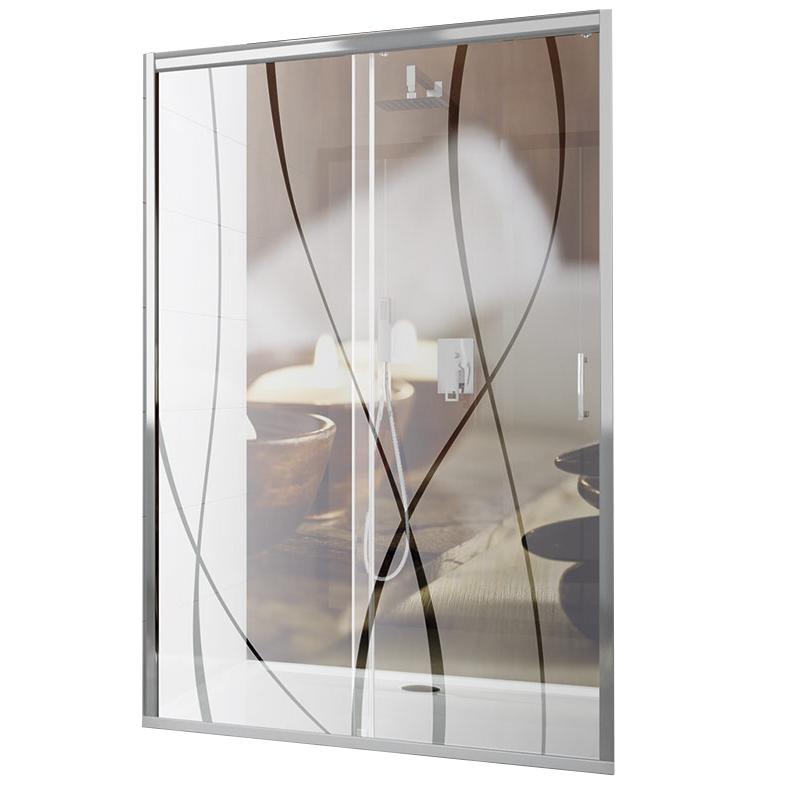 Porte coulissante Tyxo 100cm porte droite Vitrage sérigraphié profilé Blanc - LEDA Réf. L13TX71C1011