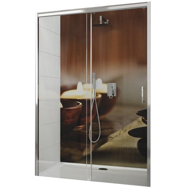 Porte coulissante Tyxo 100cm porte droite Vitrage transparent profilé Blanc - LEDA Réf. L13TX71C1031