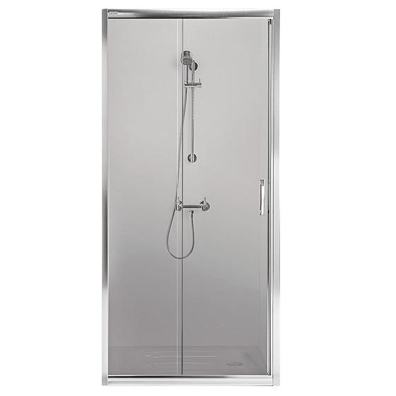 Porte coulissante Tyxo 90cm Vitrage transparent profilé Blanc - LEDA Réf. L13TX6F0931