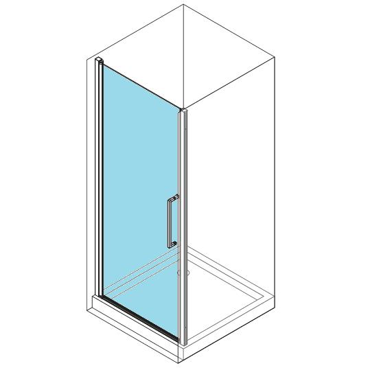 Porte pivotante young 2 0 1b 57cm verre transparent for Porte young novellini