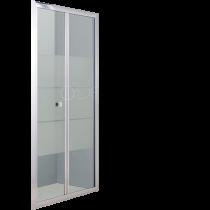 Porte pliante Bellagio 80cm verre sérigraphié profilé Chromé - O\'DESIGN Réf. BEL960VSC