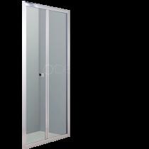 Porte pliante Bellagio 90cm verre transparent profilé Chromé - O\'DESIGN Réf. BEL961VTC