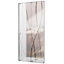Porte pliante Tyxo 70cm Vitrage sérigraphié profilé Blanc - LEDA Réf. L13TX7PL07011
