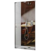 Porte pliante Tyxo 70cm Vitrage transparent profilé Blanc - LEDA Réf. L13TX7PL07031