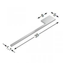 Porte-serviettes aluminium anodisé - SANIJURA Réf. 924039
