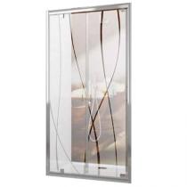 Portes battantes Tyxo 70cm Vitrage sérigraphié profilé Blanc - LEDA Réf. L13TX6PB07011