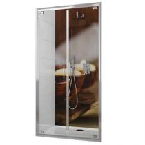 Portes battantes Tyxo 70cm Vitrage transparent profilé Blanc - LEDA Réf. L13TX6PB07031
