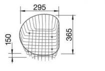 Promo : Panier à vaisselle rond - BLANCO Réf. 220574
