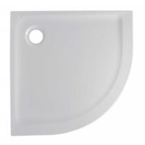 Receveur 1/4 de rond extra-plat Face 100x100cm Blanc - SANINDUSA Réf. 800190