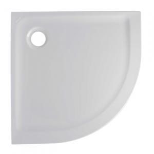 Receveur 1/4 de rond extra-plat Face 90x90cm Blanc - SANINDUSA Réf. 800180