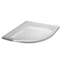 Receveur 1/4 de rond Frisbee 80x80cm cuve 50mm acrylique Blanc - LEDA Réf. L12FR6Q0080