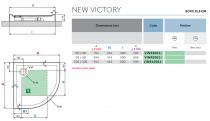 Receveur 1/4 de rond Novellini New Victory Blanc doux