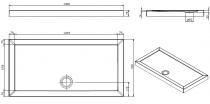 Receveur à poser Open 140x70cm Blanc - SANINDUSA Réf. 801230