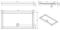 Receveur à poser Open 160x80cm Blanc - SANINDUSA Réf. 801650