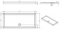 Receveur à poser Open 180x80cm Blanc - SANINDUSA Réf. 801730