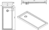 Receveur à poser Piano 150x70cm antidérapant Blanc - SANINDUSA Réf. 80254