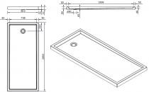 Receveur à poser Piano 200x90cm Blanc - SANINDUSA Réf. 80271