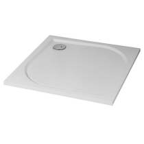 Receveur carré Dino 100x100cm polybéton Blanc brillant - O\'DESIGN Réf. DINO100B