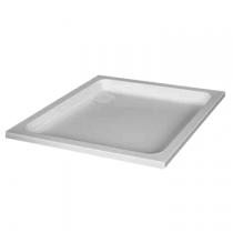 Receveur carré Frisbee 80x80cm cuve 50mm acrylique Blanc - LEDA Réf. L12FR6C0080