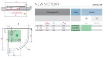 Receveur extra-plat 1/4 de rond Novellini New Victory Blanc doux