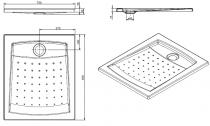 Receveur extra-plat Millennium 90x75cm Blanc - SANINDUSA Réf. 800060