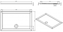 Receveur extra-plat Open 120x75cm Blanc - SANINDUSA Réf. 800990
