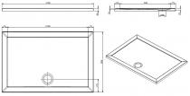 Receveur extra-plat Open 120x80cm Blanc - SANINDUSA Réf. 801010