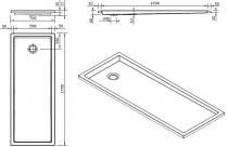 Receveur extra-plat Piano 180x70cm Blanc - SANINDUSA Réf. 80227