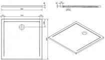Receveur extra-plat Stepin 90x90cm Blanc - SANINDUSA Réf. 107530