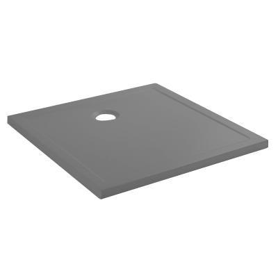 Receveur extra-plat Steppin 80x80cm antidérapant Gris - SANINDUSA Réf. 107520034AD