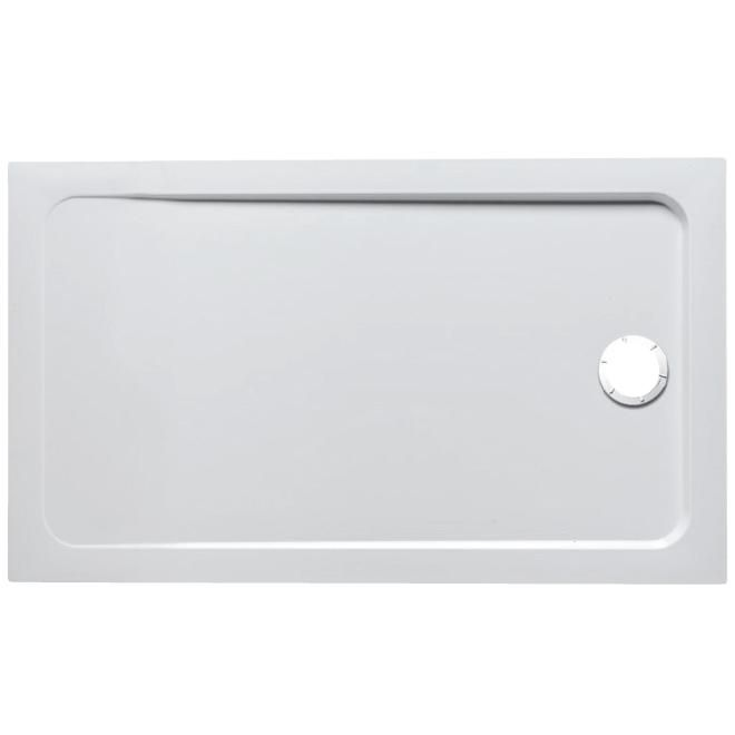 flight antidérapant 120 x 80 rectangulaire acrylique blanc - jacob