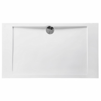 Receveur rectangle Prefixe 140x80cm Blanc - AQUARINE Réf. 814052