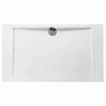 Receveur rectangle Prefixe 140x80cm Blanc - AQUARINE Réf. 814052
