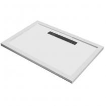 Receveur rectangulaire Horizon 120x80cm polybéton Blanc - OZE Réf. HORIZONR