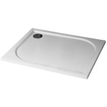 Receveur rectangulaire Ugo 100x80cm polybéton Blanc brillant - O\'DESIGN Réf. UGO100X80B