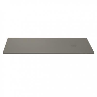 Receveur résine McBath Centuria Nox Slate Ciment largeur 70cm - bonde carrée