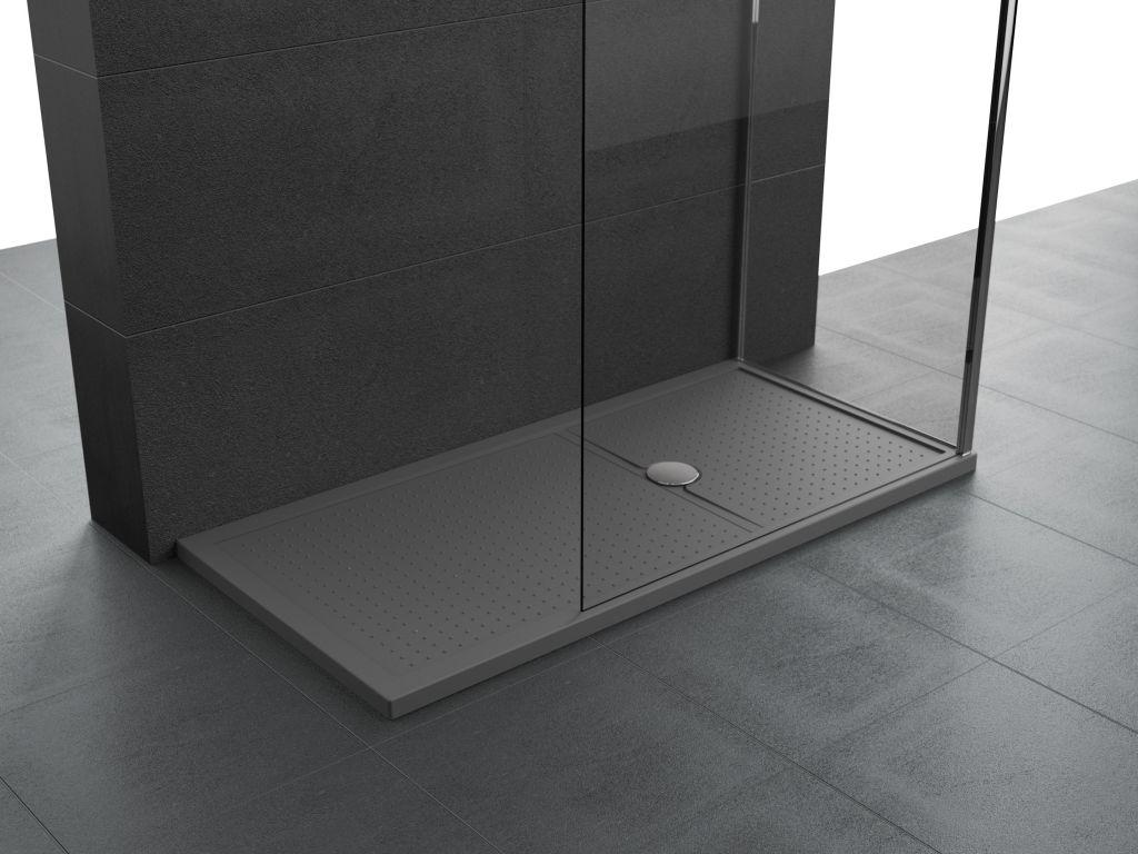 Receveurs de douche Novellini Olympic Plus bord 4,5 cm gris