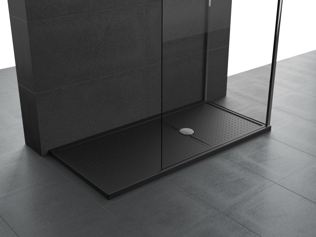 Receveurs de douche Novellini Olympic Plus bord 4,5 cm noir