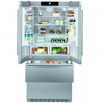 Réfrigérateur multiportes NoFrost 114+357+68l A++ Inox - LIEBHERR réf. CBNes625624