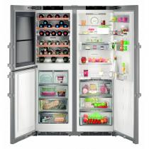 Réfrigérateur Side by Side NoFrost 234+126+153l A++/A+++ Inox - LIEBHERR réf. SBSes848620
